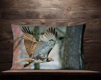Hawk Lumbar Pillow | Hawk Decor | Hawk Gift | Bird Pillow | Bird Gift | Hawk Throw | Hawk Cushion | Hawk Pillow Cover | Hawk Pillow Case