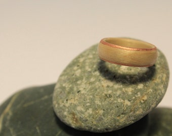 White maple and Copper bentwood ring size 8
