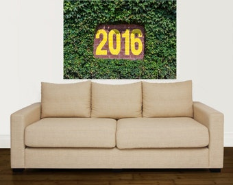 Wrigley Field Grass Wall Mural With 2016 As The Wall Mark! Wall Graphic  Vinyl Material