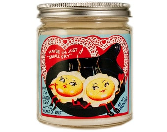 Valentine Candle, Custom Scented Candle, Container Candle, Soy Candle, Valentine Gift, Vintage Valentine Day, Anthropomorphic