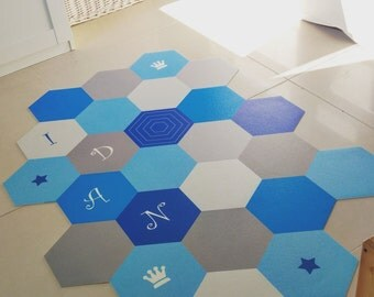 Geometric PVC geometric  floor mat, rug, carpet