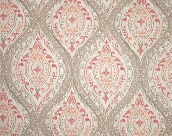 Ariana Coral - Magnolia Home Fashions - Upholstery Designer Fabric By The Yard (Back Order Until 06/01/17)