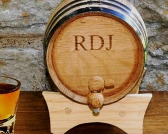 Monogrammed Mini Whiski Barrel, Personalized Mini Whiskey Barrel