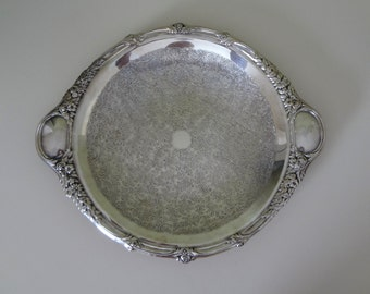 Silver Plate Tray Vintage Tray