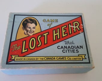 Vintage Lost Heir Card Game Original Box