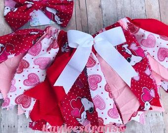 Snoopy Valentine's Day tutu skirt, first birthday,cake smash tutu,