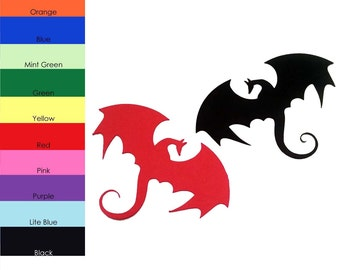 25 pack - Paper Dragons, Paper Dragon Cut Out, Dragon Die Cut, Party Supplies, Paper Supplies