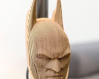 Batman - cardboard mask on the wall - 3D Puzzle DIY Kit Paper recycled sculptur wall decor Gift Diy kit original