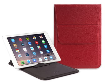 """Leather Pouch Samsung Galaxy Tab S2 9.7"""" - Samsung Galaxy S2 9.7"""" Leather Sleeve - Samsung Galaxy Tab S2 9.7"""" Cover -Stand - Grained Leather"""