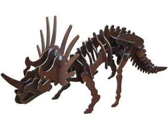 Metal Garden Dinosaur - Triceratops
