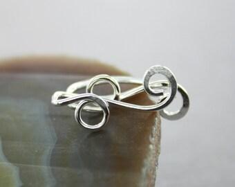 Petite sterling silver ear climbers earrings, sterling ear cuffs, ear jacket climbers, ear sweeps, wire ear cuffs, simple ear crawlers