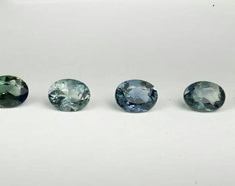 7.8ct 7 pieces natural Blue/Green Sapphire