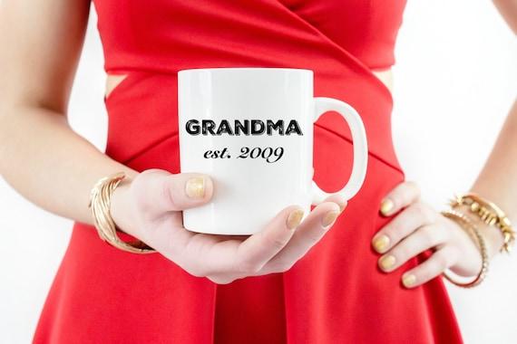 """Motherhood """"Grandma"""" Bistro 16 oz Cofee Mug"""