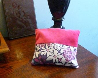 Large Pink and Floral Lavender Bag - Limited Edition