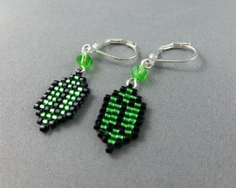 Green Rupee Earrings - Legend of Zelda Earrings Geeky Earrings Nerdy Jewelry Video Game Earrings Pixel Earrings Zelda Earrings Pixel Studs