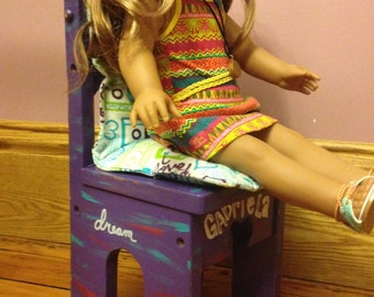 "SOLD 18"" doll display chair"