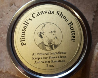 Plimsoll's Canvas Shoe Butter - A natural canvas shoe treatment that resists dirt and water staining.