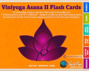 Viniyoga Asana II Yoga Flash Cards