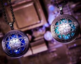 Glow Steampunk pendant