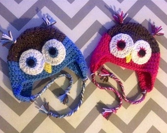 Owl Hat ~ Hats for Kids ~ Hats for Adults ~ Colorful Owl Hat
