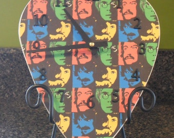 Beatles Giant Guitar Pick Clock