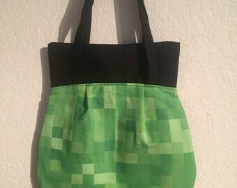 Handmade Shoulder Fabric Bag Minecraft