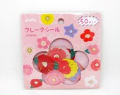 Flake Stickers 50P Japanese Flowers