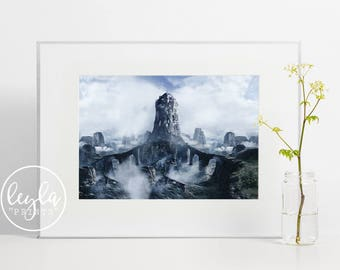 Game of Thrones Print - Eyrie | A6/A5/A4/A3 Illustration Print | GoT Poster | House Arryn Poster | For Him, For Her