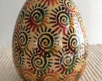 Handpainted Ceramic Egg Italy-Amazing Easter Gift