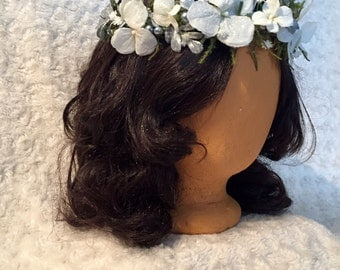 White and Silver Flower Crown