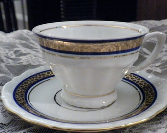 Vintage Polish China Demitasse cups and saucers