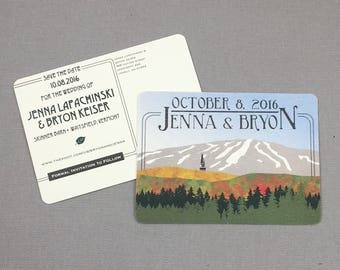 Stratton Mountain in Vermont Save the Date Postcards - JA1