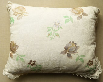 Damask fabric cushion