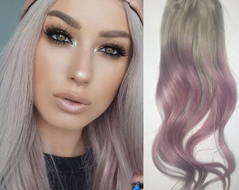 100% Human Hair Extensions : Pastel  Pink Clip In Hair Extensions, Pink Hair Extensions, Ombre Hair, Custom Hair Extensions,clip in Hair.