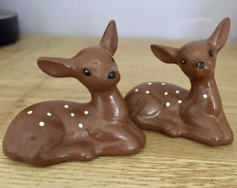 Pair of 1980's Kitsch Fawns