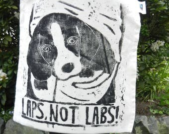 Laps, not labs! Organic tote bag (FAIRTRADE)