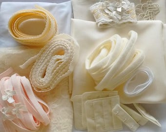 Bra kit : 3 bras - special beginners homemade lingerie