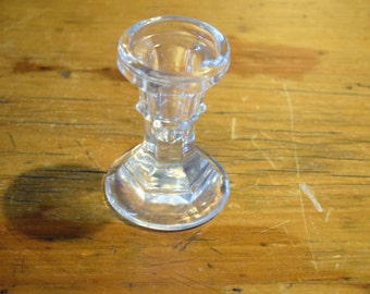 Glass Candle Stick Holder 8.5cm