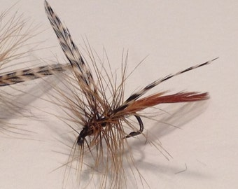 Fly Fishing Flies: Three (3) Red Quil Dry Flies