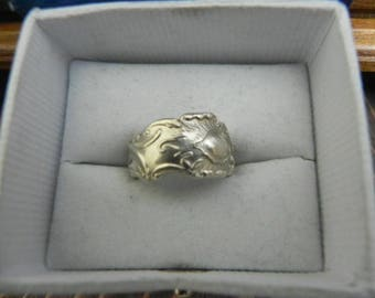 sterling silver spoon ring size 4.5