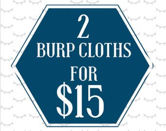 Mix and Match baby burp cloths | you choose 2 for 15! | Burp Rag | trendy baby accessories | newborn | shower gift | gender neutral |