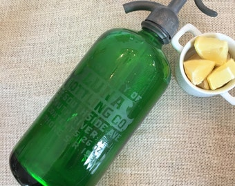 Vintage Emerald Green Seltzer Bottle