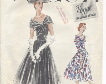 "1956 Vintage VOGUE Sewing Pattern DRESS B32"" (R497) Vogue 914"