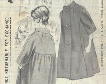 """1962 Vintage Sewing Pattern COAT B35""""-36 1/2"""" (R732) By Spadea"""