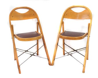 Bentwood Folding Chairs – Set of 2 – 1950's