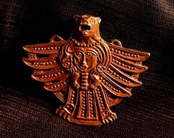 Pendant with Bear, bird, openwork - Y-50