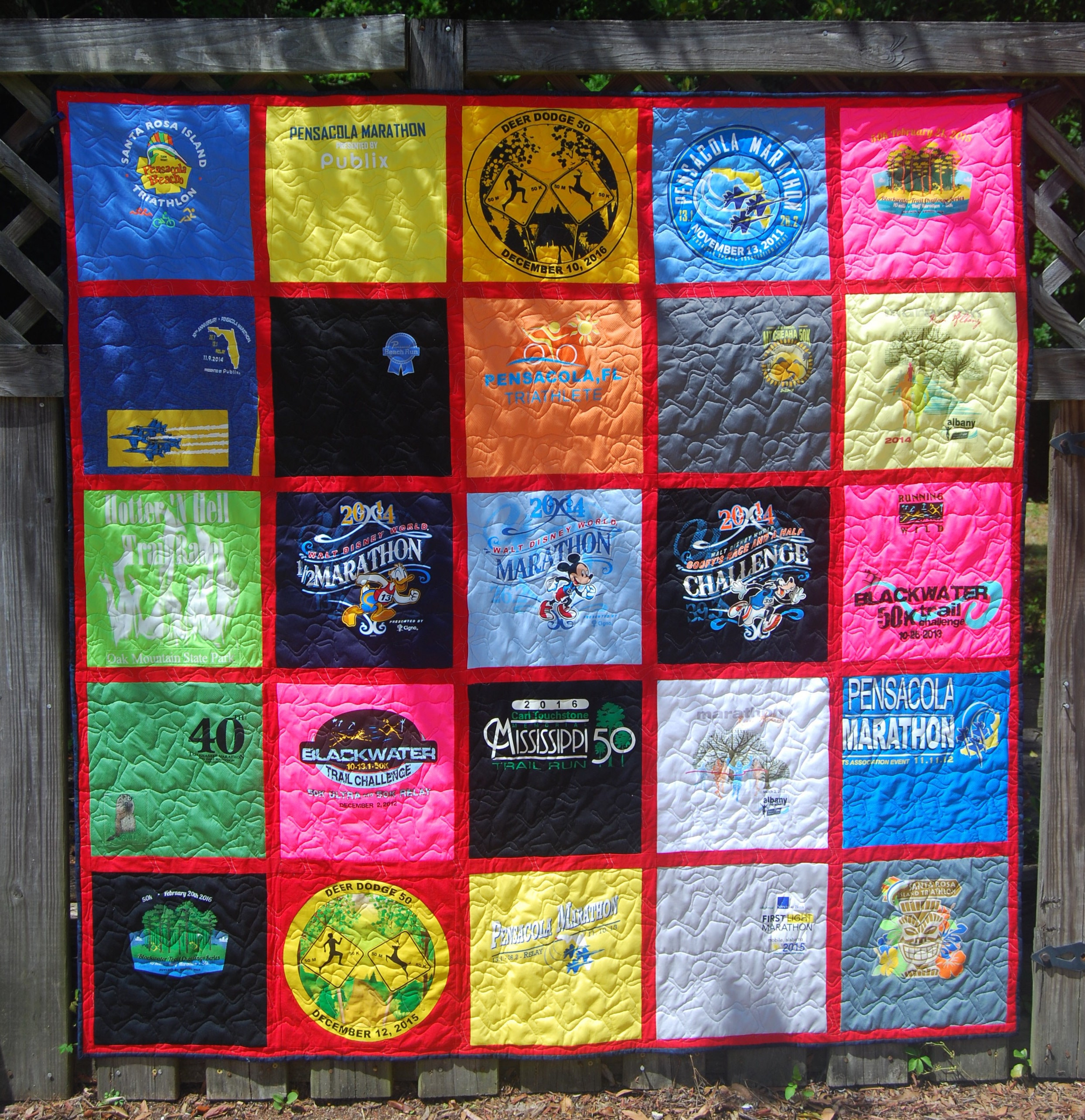 Custom Made Longarm Quilted T Shirt Quilts Races