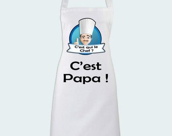 Kitchen apron who's the leader? It's Daddy! Gift for a great father - family