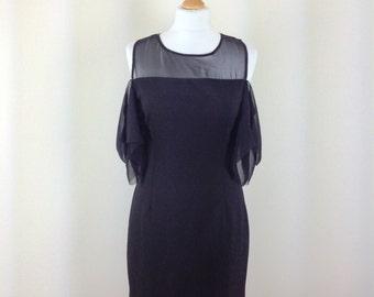 Woman boho party black dress