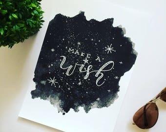 Quote Wall Art Print / A4 print / Art print / Illustration / Contemporary nordic nursery art / Calligraphy art / Handlettered art print